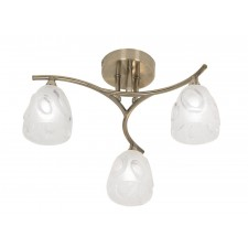 Oaks Lighting 5083/3 AB Jurupa Antique Brass