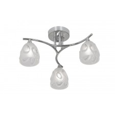 Oaks Lighting 5083/3 CH Jurupa Chrome Ceiling Light