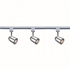 Spot Track Light - 1 Light Satin Silver, Chrome