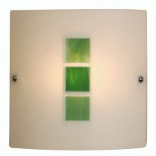 Muro Flush Wall Light - Green
