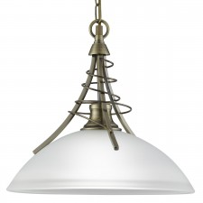 Linea Ceiling Light - antique brass pendant