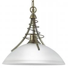 Linea Ceiling Light - antique brass pendant