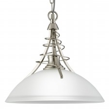 Linea Ceiling Light - satin silver pendant
