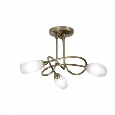 Tara Decorative Ceiling Light - 3 Light, Antique Brass