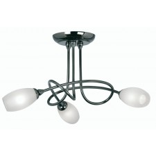 Tara Decorative Ceiling Light - 3 Light, Mirror Black