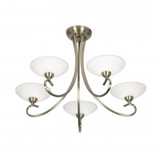 Satyana 5 Light Ceiling Light - Antique Brass