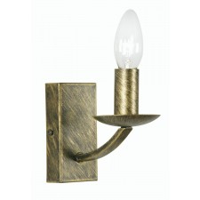 Oaks Lighting 5673/1 BB Caro Black Brushed Gold Wb