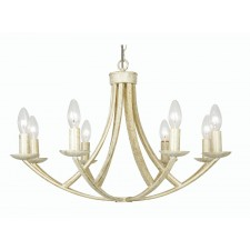 Oaks Lighting 5673/8 CG Caro Cream Gold 8 Light