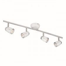 Pluto Ceiling Light - White & Chrome