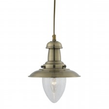 Fisherman Lantern Ceiling Light - antique brass