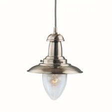 Fisherman Lantern Ceiling Light - satin silver