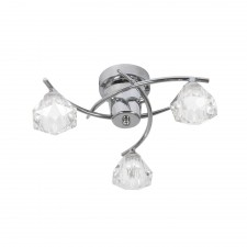 Oaks Lighting 6035/3 CH Jeo Chrome Ceiling Light