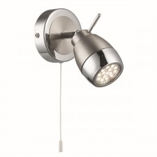 Spotlight 1 Light Led, Satin Silver & Chrome