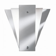 Modern Wall Light - Mirror Glass & Chrome