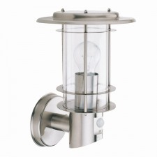 Stainless Steel IP44 Outdoor Wall Light - PIR