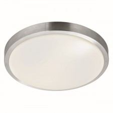 Bathroom IP44 Flush Ceiling Light - Aluminium