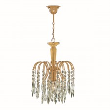 Waterfall Ceiling Light- Small Crystal & Gold