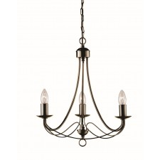 Maypole Ceiling Light - 3 Arm antique brass