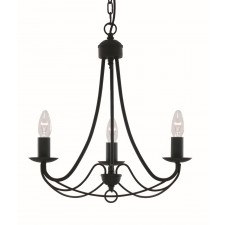 Maypole Ceiling Light - 3 Arm matt black