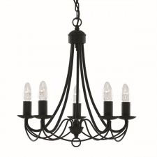 Maypole Ceiling Light - 5 Arm matt black