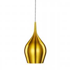 Vibrant Aluminium Pendant Light - 1 Light, Gold