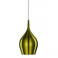 Vibrant Aluminium Pendant Light - 1 Light, Green
