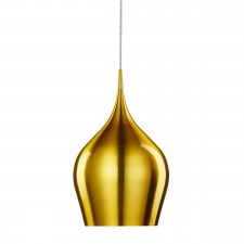 Vibrant Aluminium Pendant Light Dia 26 - 1 Light, Gold