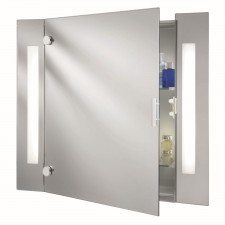 Bathroom Mirror illuminated - Shaver Socket