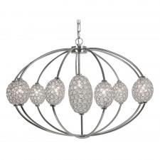 Floss Ceiling Light 10 Light K9 Crystal - Chrome
