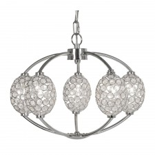 Floss Ceiling Light 5 Light K9 Crystal - Chrome