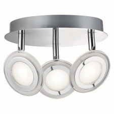 Frenzy LED Spotlight Plate - 3 Light, Polished Chrome