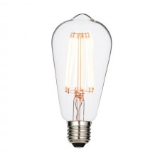 6W LED Pear ES/E27 2200K Very Warm White in Colour