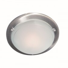 Jupiter Flush Ceiling Light - Satin Silver