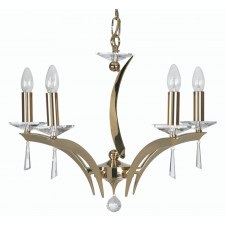 Oaks Lighting 708/5 GO Wroxton 5 Light Pendant Gold