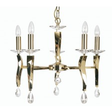 Oaks Lighting 719/5 GO Aire 5 Light Pendant Gold