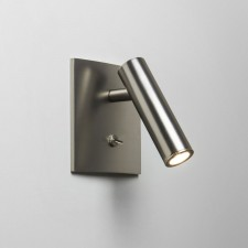 Astro Lighting Enna Square Switched Wall Light - 1 Light, Matt Nickel