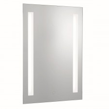 Bathroom Light Ip44 - 2 Light Touch Bathroom Mirror With Shaver Socket