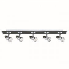 Comet Ceiling Light- 6 Spot Black & Chrome