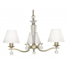 Maita 3 Light Ceiling Light - Antique Brass
