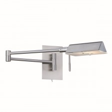 Adjustable Swing Arm G9 Wall Light - Satin Silver