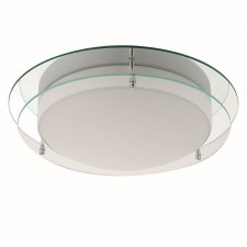 Flush Bathroom Light - Glass Tier IP44