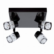 Blocs Ceiling Light - 4 Way Spots Black Chrome