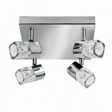 Blocs Ceiling Light - 4 Way Spots Chrome