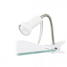 clip-lamp/1 flexible white/silver 'FABIO