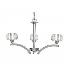 Oaks Lighting 8129/3 CH Cardan Chrome Ceiling Light