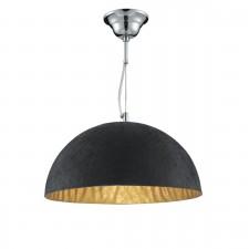 Searchlight Dome Pendant - Black/Gold