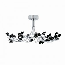 Wisteria Ceiling Light with black leaves