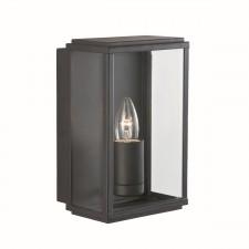 IP44 Outdoor Light - Black & Glass