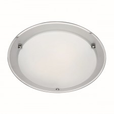 Searchlight Flush ceiling light - Mirrored glass/acid glass - Small