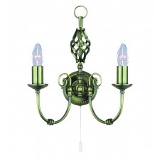 Zanzibar Wall Light - antique brass 2 light